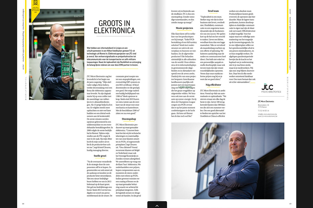 JTC Micro Electronics Sterck Magazine Limburg N. 36